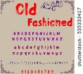 script handcrafted vector... | Shutterstock .eps vector #535333417