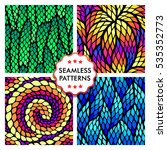 seamless abstract patterns with ... | Shutterstock .eps vector #535352773