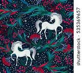 fairy magic seamless vector... | Shutterstock .eps vector #535369657