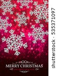 christmas banner with glowing... | Shutterstock .eps vector #535371097