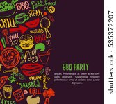 bbq opening party announcement. ... | Shutterstock . vector #535372207