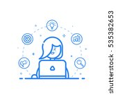 vector illustration of blue... | Shutterstock .eps vector #535382653