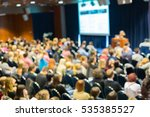blured image of audience in... | Shutterstock . vector #535385527