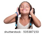 cute african american small... | Shutterstock . vector #535387153