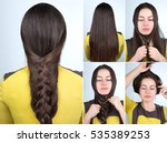 tutorial photo step by step of... | Shutterstock . vector #535389253