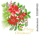 christmas card  a banner with... | Shutterstock .eps vector #535389433