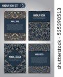 tribal mandala design set.... | Shutterstock .eps vector #535390513