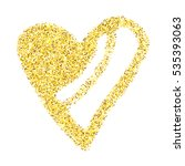 gold glitter heart isolated... | Shutterstock .eps vector #535393063