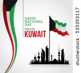 kuwait national day celebration ... | Shutterstock .eps vector #535393117