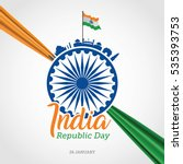 indian republic day celebration ... | Shutterstock .eps vector #535393753