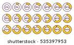 set of orange circle percentage ... | Shutterstock .eps vector #535397953