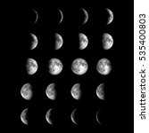 different phases of moon.... | Shutterstock . vector #535400803