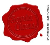 santa claus red wax seal...   Shutterstock .eps vector #535409533