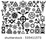 medieval occult signs and magic ... | Shutterstock .eps vector #535411573