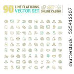 vector graphic set of icons in... | Shutterstock .eps vector #535413307