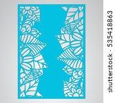 die cut card. laser cut vector... | Shutterstock .eps vector #535418863