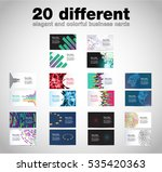business card set  vector... | Shutterstock .eps vector #535420363