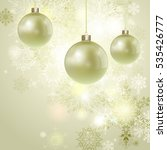 christmas background with balls ... | Shutterstock . vector #535426777