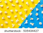 popcorn pattern on yellow and... | Shutterstock . vector #535434427