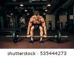 young shirtless man doing... | Shutterstock . vector #535444273