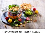healthy homemade chickpea and... | Shutterstock . vector #535446037