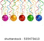 holiday decorations with... | Shutterstock .eps vector #535473613