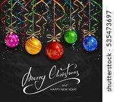 Colorful Christmas Balls With...