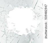 3d rendering broken glass... | Shutterstock . vector #535482547