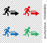 exit    vector icon   Shutterstock .eps vector #535484803