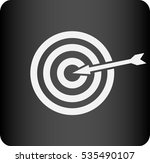 flat icon of aim | Shutterstock .eps vector #535490107