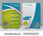 brochure template. business... | Shutterstock .eps vector #535490353