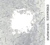 3d rendering broken glass... | Shutterstock . vector #535490863