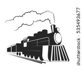 old  locomotive illustration. | Shutterstock .eps vector #535493677