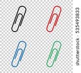 paperclip    vector icon   Shutterstock .eps vector #535493833