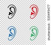 ear    vector icon | Shutterstock .eps vector #535495477