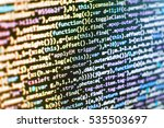 css  javascript and html usage. ...   Shutterstock . vector #535503697