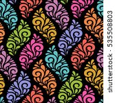 floral seamless pattern with... | Shutterstock . vector #535508803