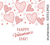 happy valentine s day lettering ... | Shutterstock .eps vector #535513903