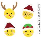 a set of cute yellow little... | Shutterstock .eps vector #535524577