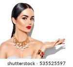 beauty fashion model brunette... | Shutterstock . vector #535525597