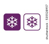 snowflake vector icon. purple... | Shutterstock .eps vector #535528957
