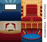 theaters and music scene... | Shutterstock .eps vector #535529263