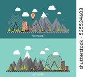 vector illustration. ferris...   Shutterstock .eps vector #535534603