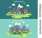 mountain peak. summer  spring... | Shutterstock .eps vector #535534663