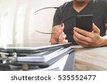 businessman hand using mobile