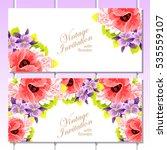 vintage delicate invitation... | Shutterstock . vector #535559107