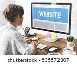 web design template copy space...   Shutterstock . vector #535572307