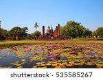sukhothai historical park ... | Shutterstock . vector #535585267