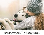 image of young girl with her... | Shutterstock . vector #535598803
