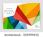 3d low poly shapes design for... | Shutterstock .eps vector #535599523